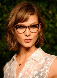 Karlie Kloss~love hair and glasses.  :)