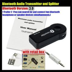 >> Click to Buy << 1 Trailer 2 Multi-point Wireless 3.5mm Bluetooth V3.0 Audio Transmitter+Splitter,Stereo Dongle Adapter,for iPod Smart TV DVD MP3 #Affiliate