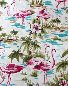 Tropical Palms And Flamingos