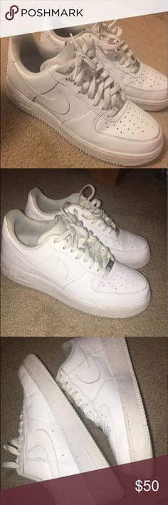 Classic White Nike AF1 only been worn a few times, small crease in toe of shoe but nothing too bad. Nike Shoes Sneakers
