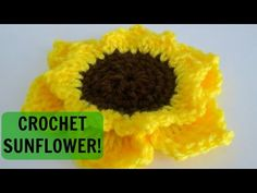"CROCHET How To #Crochet #Sunflower Granny Square 10"" TUTORIAL #326 - YouTube"