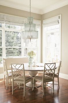 Benjamin Moore Pashmina. I think this room needs window treatments to soften space and art! Love the furniture