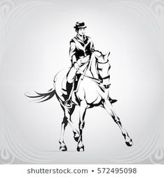 Find Silhouette Rider On Horse Dressage stock images in HD and millions of other royalty-free stock photos, illustrations and vectors in the Shutterstock collection. Portfolio, Dressage, Horse Drawings, Art Drawings, Tattoo Caballo, Viking Logo, Horse Sketch, Nature Vector, Silhouette Images