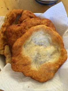 Fried bread aka langos. Fast food of central europe
