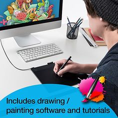 Wacom Intuos Art Pen and Touch digital graphics, drawing & painting tablet Medium: New Version (CTH690AK)