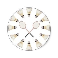 Badminton Rackets Sticker from http://www.zazzle.com/badminton+gifts