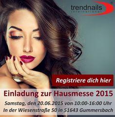 Registrieren Sie sich auf der Website! Besuchen Sie uns auf der Hausmesse 2015 und gewinnen Sie wertvolle Preise!  Einladung zur Hausmesse 2015 Samstag, den 20.06.2015 von 10:00-16:00 Uhr In der Wiesenstraße 50 in 51643 Gummersbach