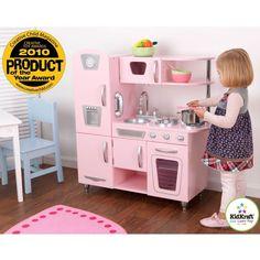 Kitchen Playset For Girls Pretend Play Wooden Cooking Toy Set Toddler Kids Pink #kitchenplayset #pretendplay #kitchentoy