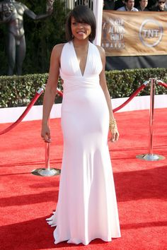 2009 SAG Awards - Modern Day Marilyn - The Style Evolution of Taraji P. Hollywood Gowns, Hollywood Fashion, Hollywood Glamour, Hollywood Style, Taraji P Henson, Sag Awards, Elegant Outfit, Famous Women, Celebs