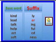 Suffix Prefix root words song