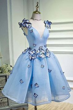 Distinct Blue Prom Dress, Short Prom Dress ,Charming light blue long Prom Dresses from HotProm - ❤❤ 2019 Beautiful dresses for homecoming dresses ❤❤ Junior Homecoming Dresses, Burgundy Homecoming Dresses, Cute Prom Dresses, Sweet 16 Dresses, Pretty Dresses, Beautiful Dresses, Maxi Dresses, Quinceanera Dresses Short, Short Blue Dresses