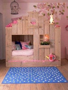 This looks like a simple idea, but still manages to look amazing. Perfect for a girls bedroom!