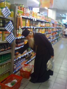 Priest shopping in #Athens #Greece