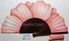 Abanicos pintados a mano por Claudia Cano Hand Held Fan, Hand Fan, Painted Fan, Hand Painted, Coloring Books, Coloring Pages, Stained Glass Mirror, Diy And Crafts, Arts And Crafts