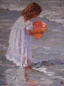 My dear friend Joyce is such a great painter. Malone TD WHAT'S IN THE BUCKET by JOYCE NORWOOD Oil ~ 24 x 20