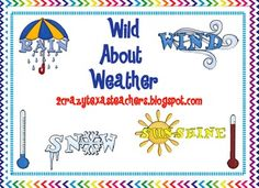 This weather unit includes math and literacy activities.  90 pages!