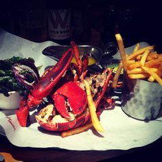 Lobster and French fries at Burger & Lobster
