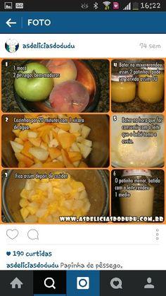 Papinha de maçã e pêssego