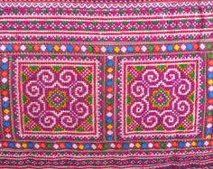 Hmong Ethnic Cross Stitched/ Embrodered