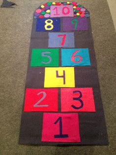 Indoor Hopscotch Mat (No-sew!) - When it rains, it pours and sometimes due to crazy weathers, there is no fun being inside your home. Finding a perfect solution for when an outdoor weather has a mind of its own can be chaotic until now.