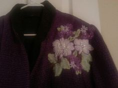Delicate DelIghts.. embroidered onto stabilizer then sewn onto jacket with a regular sewing machine Janbake
