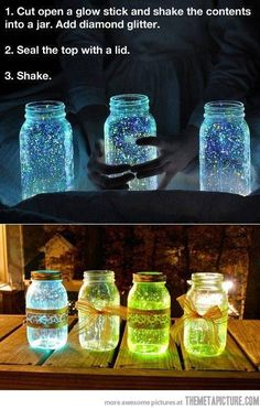 Cool Glow Stick Jars