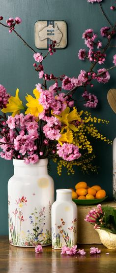 Pink and yellow florals | Home Decor | Buyer Select Spring Decorating Ideas