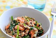 Super Food Recipe: Quinoa Pilaf with Salmon, Spinach and Mushrooms - Diablo Clinical Research