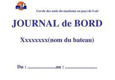 Journal de bord format PDF