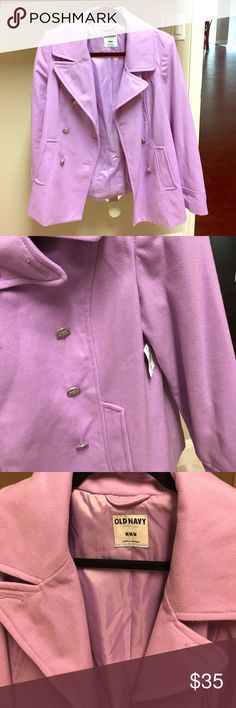 SALE Lilac wool pea coat Brand new lilac wool pea coat. NWT. Beautiful buttons. True to size. Old Navy Jackets & Coats Pea Coats