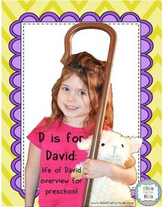 Bible Fun For Kids: Preschool Alphabet: D is for David Preschool Bible Lessons, Preschool Alphabet, Toddler Sunday School, Alphabet Board, Memory Verse, Solomon, Bible Verses, David, Printables