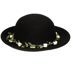 Shop ASOS Felt Boater Hat With Detachable Floral Garland at ASOS. Vanity Fair, Heather Duke, Heather Chandler, Asos, Felt Crown, Boater Hat, Floral Garland, Stage Outfits, Wild Child