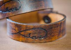 Love Always - Infinity Leather Cuff Bracelet. $22.00, via Etsy.