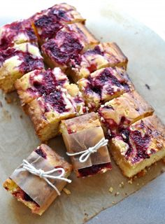 These raspberry and white chocolate blondies are perfect for packing away on picnics, with their delicious summer wedding of flavours.