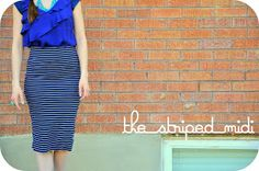 Easiest skirt to make ever! I simply used the pencil skirt from scratch guidelines . I just made sure to make it slightly smaller b...