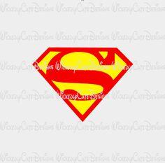 Superman Logo SVG, DXF, EPS, PNG Digital File