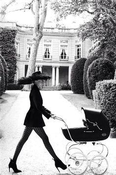 "Natasha Poly in ""Un Air De Famille"" for Vogue Paris, October 2014 Photographed by: Mario Testino"