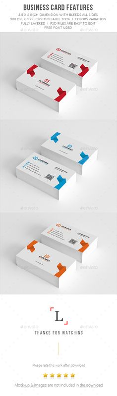 Clean Corporate Business Cards