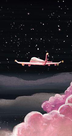 ideas travel wallpaper illustration for 2019 Tumblr Wallpaper, Pink Wallpaper, Screen Wallpaper, Galaxy Wallpaper, Cool Wallpaper, Mobile Wallpaper, Wallpaper Backgrounds, Trendy Wallpaper, Airplane Wallpaper