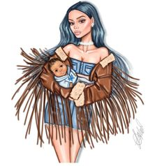 FEATURING: @ldochev #KylieJenner #Stormi #Coachella #Festival #FashionIllustrations |Be Inspirational ❥|Mz. Manerz: Being well dressed is a beautiful form of confidence, happiness & politeness