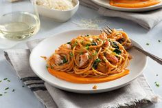 Recipes » Lobster Spaghetti Lobster Spaghetti. The perfect Valentine's dinner for two comes together quickly thanks to our friends at Classico. This mouth-watering lobster pasta is rich and flavourful and will leave your dinner date asking for more. Share This Recipe. Prep Time: 10 mins Cook... Lobster Pasta, Seafood Pasta, Lobster Recipes, Pasta Recipes, Cooking Recipes, Recipes Dinner, Vegetarian Recipes, Chicken Recipes, Rezepte