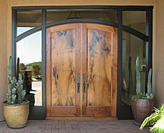 Double Front Entry Doors Wood