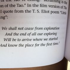 Quote from T.S.Eliot little gidding