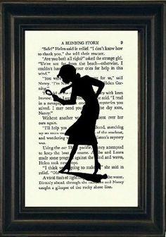 Nancy Drew Book Print Nancy Drew Silhouette by OwlsNestCottage on Etsy I Love Books, Good Books, Nancy Drew Party, Detective, Nancy Drew Mysteries, Cozy Mysteries, Nancy Drew Books, Mystery Parties, Thing 1