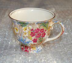 Royal Winton Grimwades Marguerite Teacup/Demitasse With Gold Trim #RoyalWinton