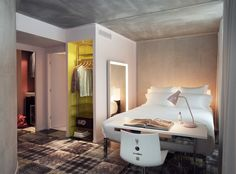 Room Design from Hotel Mama Shelter, Marseille designed by Philippe Starck