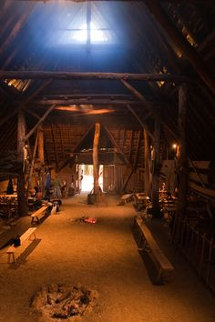 Inside Large Celtic House.