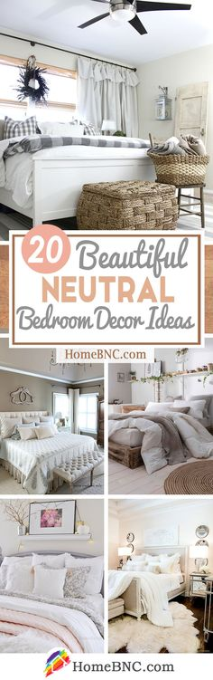 20 Neutral Bedroom Design and Decor Ideas to Add Simplicity and Charm to Your Bedroom is part of Neutral bedroom Warm - Neutral bedroom decor ideas to enhance your space Create a subtle and refined interior with the best design inspirations! Neutral Bedroom Decor, Neutral Bedrooms, Diy Home Decor Bedroom, Small Room Bedroom, Bedroom Ideas, Bedroom Storage, Bedroom Styles, Decoration, Decorating Your Home