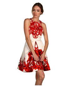Tibi Rococo Print Silk Twill Skirt