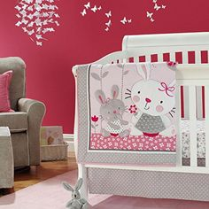 New Baby Girls Pink Neutral Animal Little Bunny Crib Bedding Set with Bumper * Continue to the product at the image link. (This is an affiliate link) Baby Girl Bedding Sets, Girl Crib Bedding Sets, Baby Nursery Bedding, Nursery Decor, Room Decor, Baby Crib Bumpers, Baby Cribs, Cot Bumper, Neutral